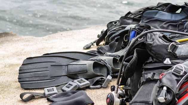 Scuba diving trip scuba gear