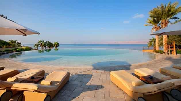 Jordan Pool and ocean
