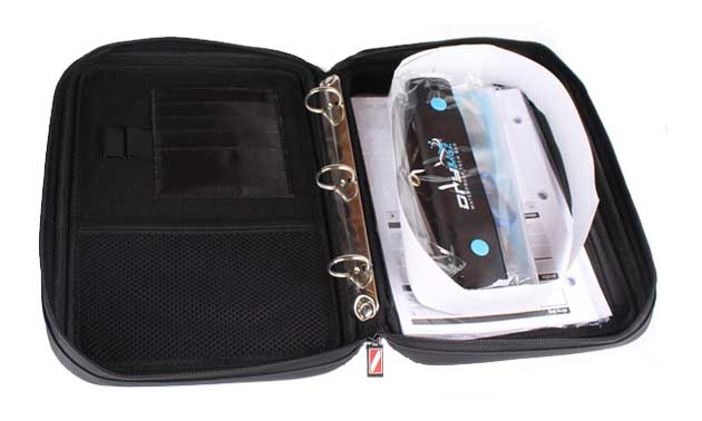 Scuba binder with dry tech bag