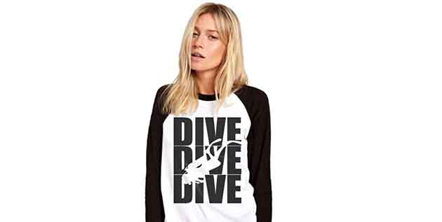 HotScamp Dive Dive Dive - Womens Baseball Top