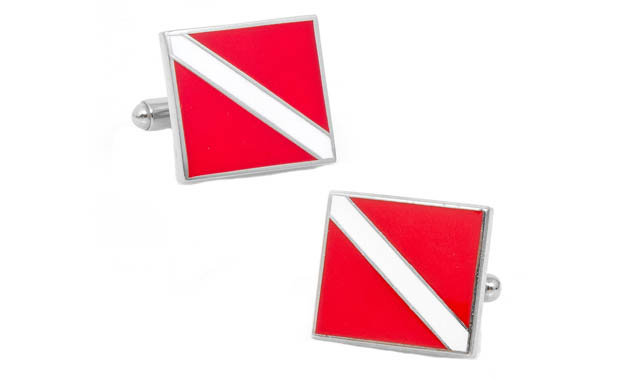Scuba diving cufflinks for great scuba diving gifts