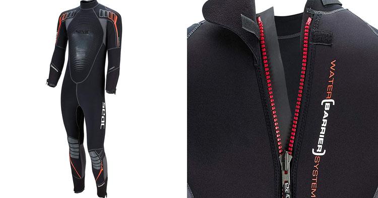 SEAC Men's Komoda Yamamoto Wetsuit, Black, Large5mm