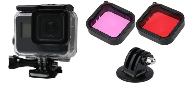 Sruim GoPro Holding Case and Filter