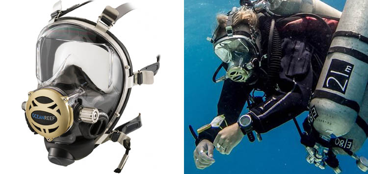 90dbe958a2d ... Full Face Scuba Mask. Our Review Score. Ocean Reef Neptune Space  Predator