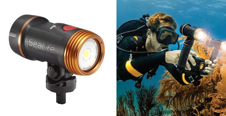 SeaLife SL672 Sea Dragon 1500F UW Photo Video Dive Light Kit