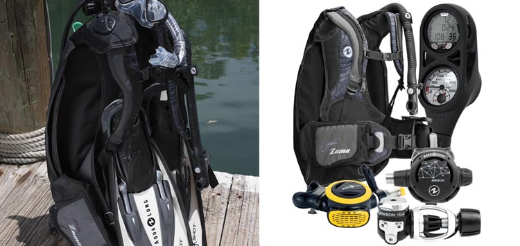 Aqua Lung Travel Scuba Gear Package Zuma