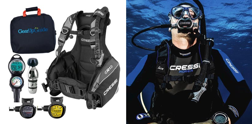 Cressi R1 Leonardo BCD Scuba Diving Gear Packages