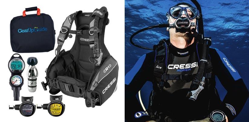 Cressi R1 Leonardo BCD Scuba Diving Gear Packages