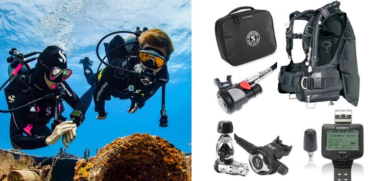 ScubaPro KnightHawk BC Scuba Regulator Package