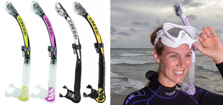 Cressi Alpha Ultra Dry Snorkel
