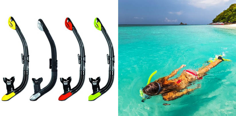 Mares Ergo Dry Scuba Diving and Snorkeling Snorkel