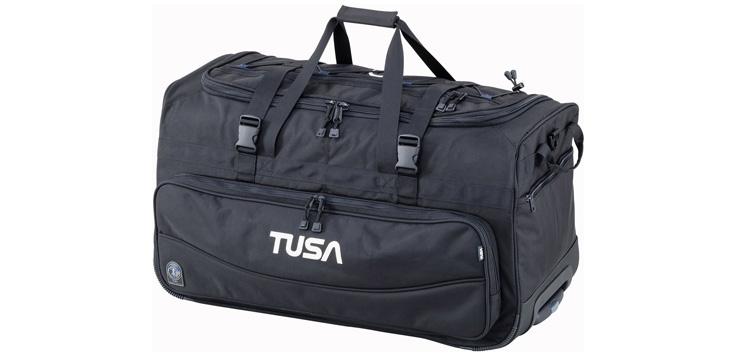 TUSA - Dive Gear Roller Duffle Bag in Black