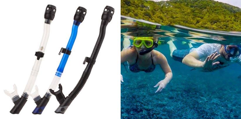 XS Scuba 3D Flex Dry Snorkel