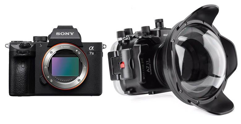 Sony A7 III and Meikon with dome port kit