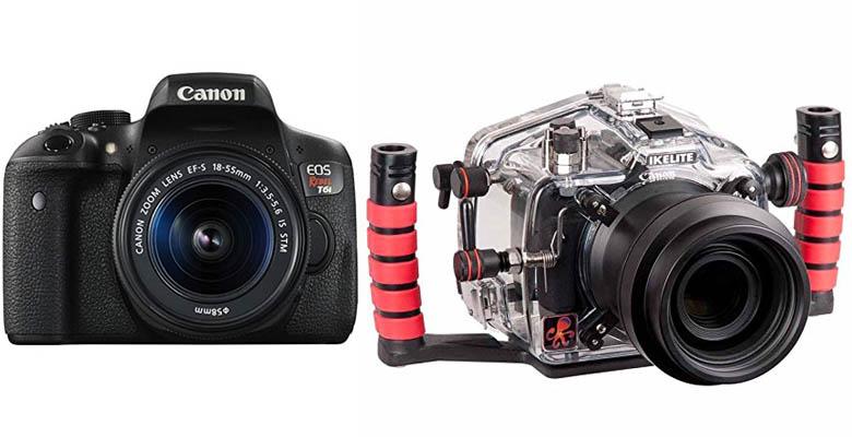 Canon EOS Rebel T6i Underwater Camera