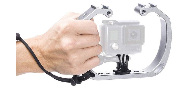 Movo GB-U70 Underwater Diving Rig for GoPro Hero with Cold Shoe Mounts