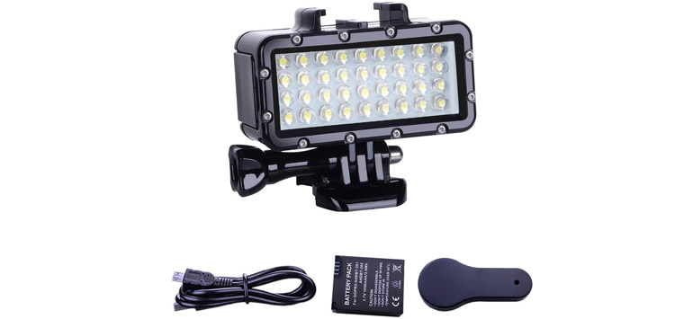 Suptig Diving Light High Power Dimmable Waterproof LED Video Light