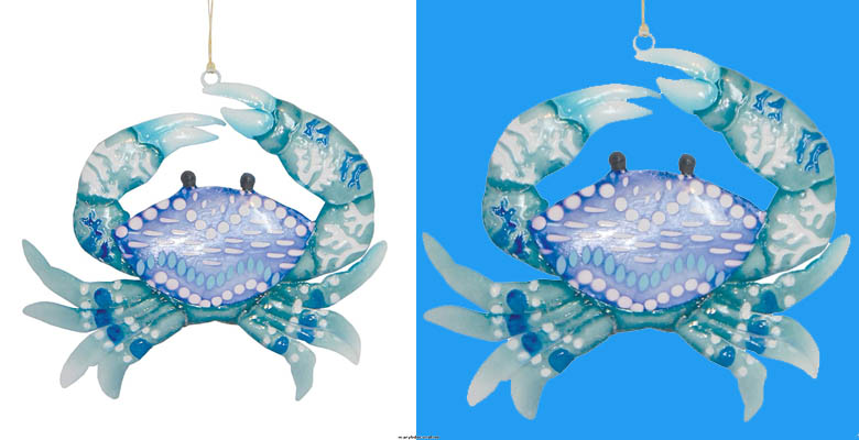 GALLERIE II Bondi Beach Crab Ornament Blue