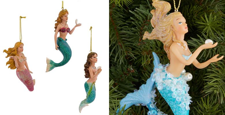 Kurt Adler 4-1.2-Inch Resin Mermaid Ornament