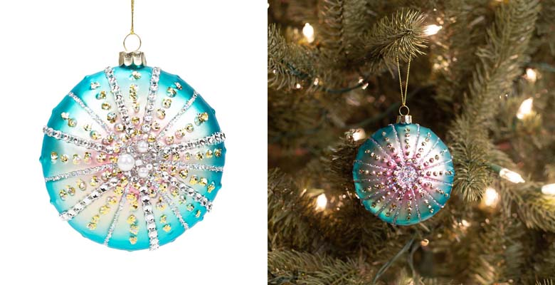 MIDWEST-CBK Sea Urchin Blown Glass Christmas Ornament