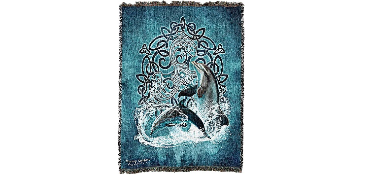 Pure Country Weavers Celtic Dolphin Blanket
