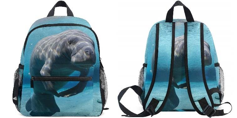 AUUXVA Toprint Kid's Manatee Backpack