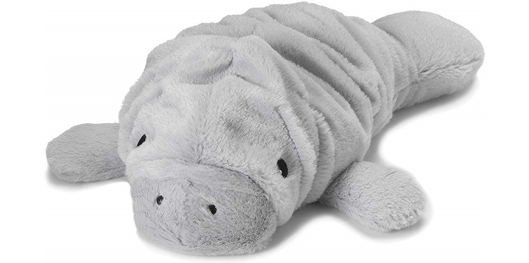 Intelex Warmies Microwavable French Lavender Scented Plush, Manatee, Gray
